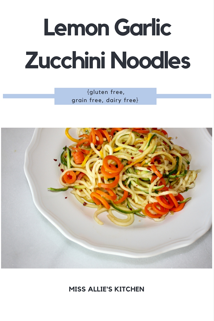 Lemon Garlic Zucchini Noodles