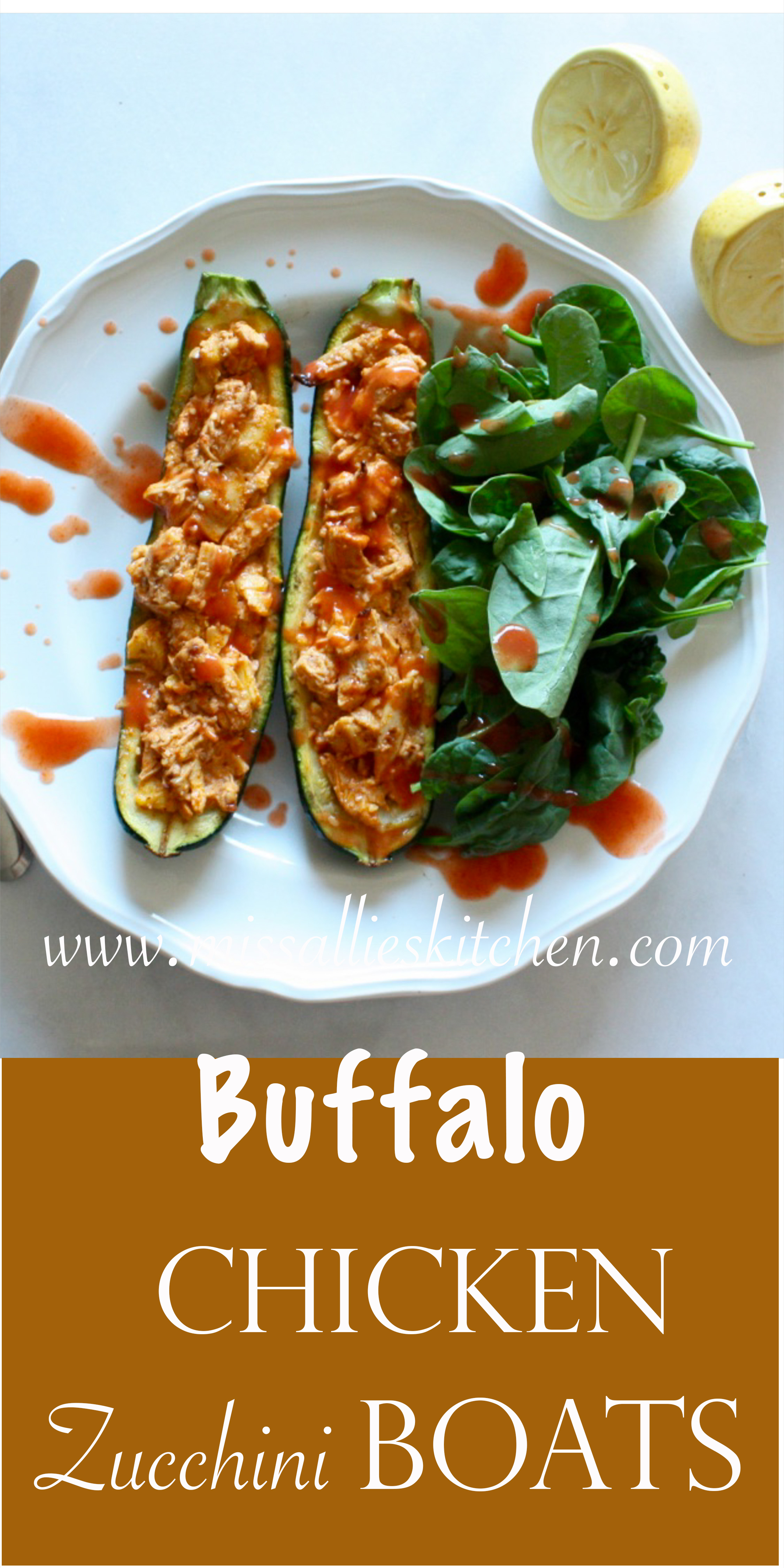 Bubbas Buffalo Chicken Zucchini Boats