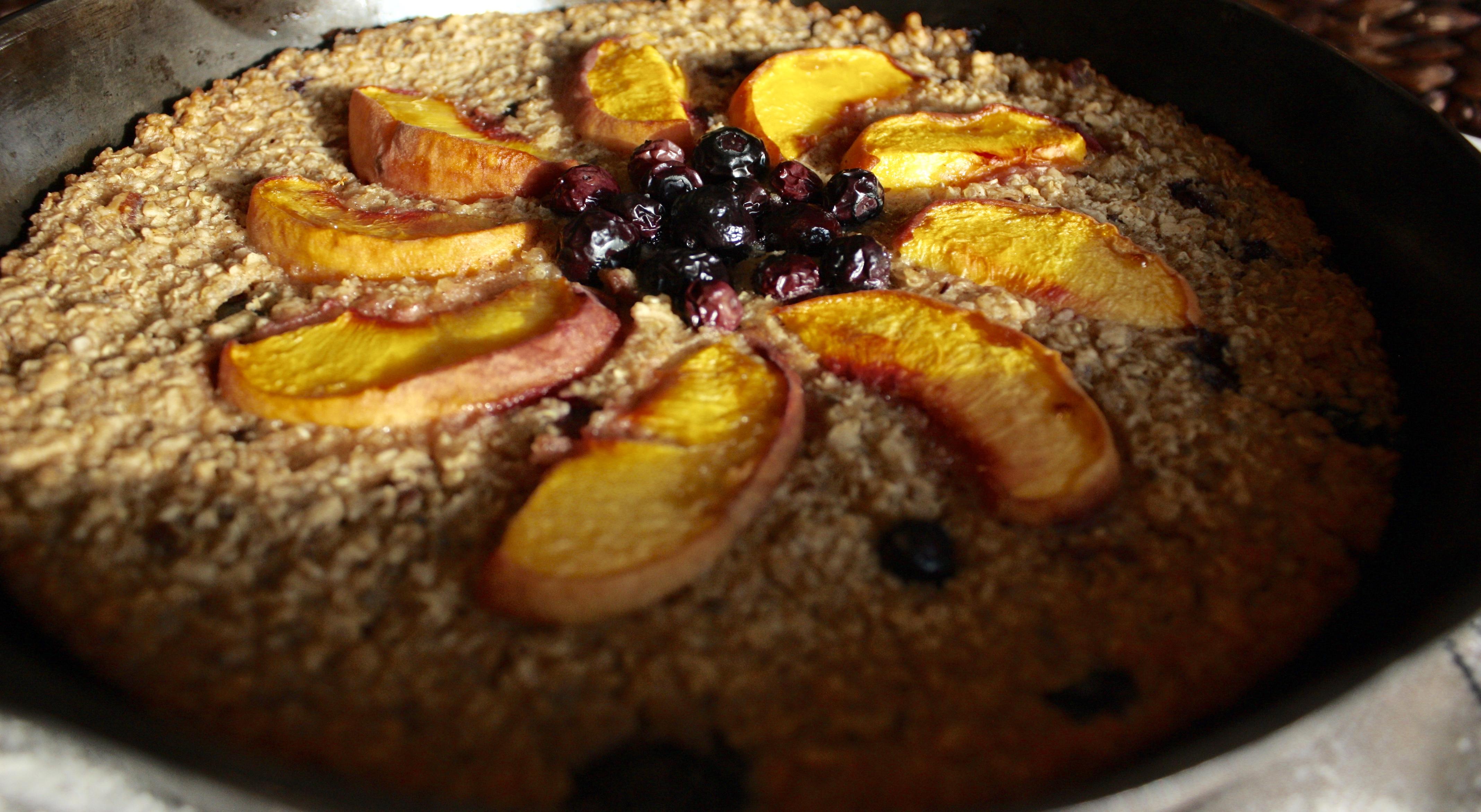 Peach Blueberry Breakfast Bake