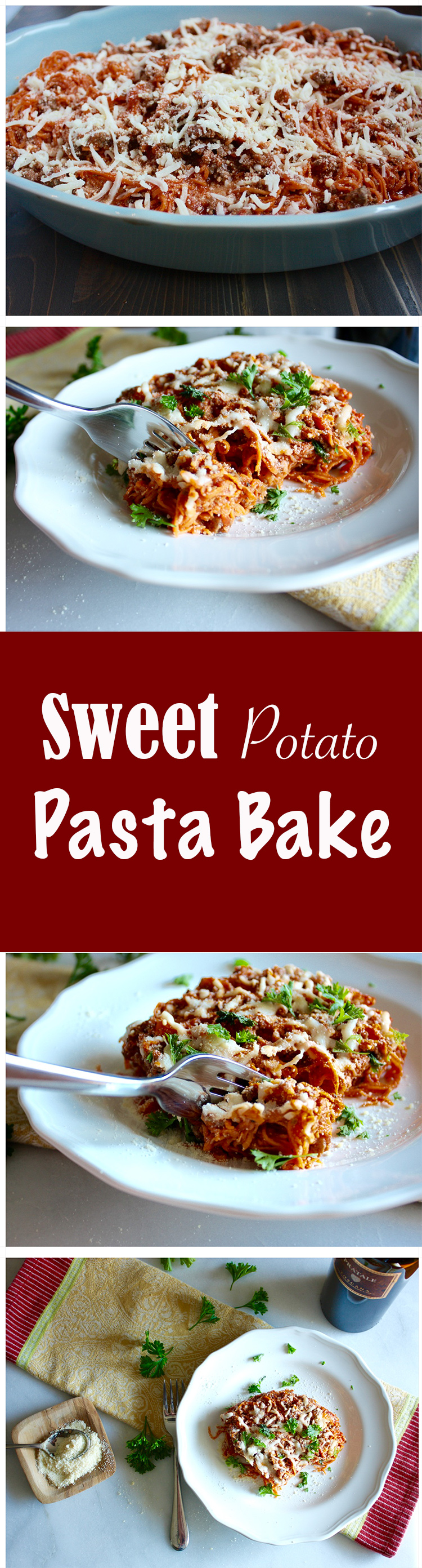 Sweet Potato Pasta Bake - Miss Allie's Kitchen