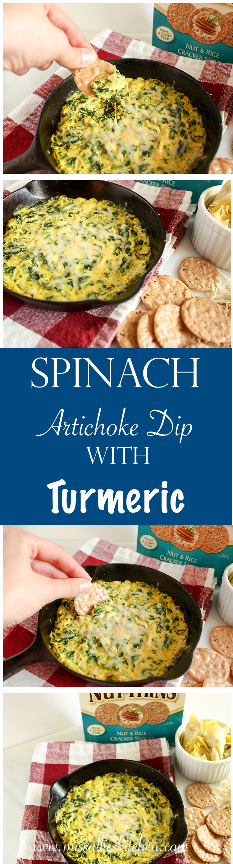 Spinach Artichoke Dip with Turmeric -Miss Allie's Kitchen