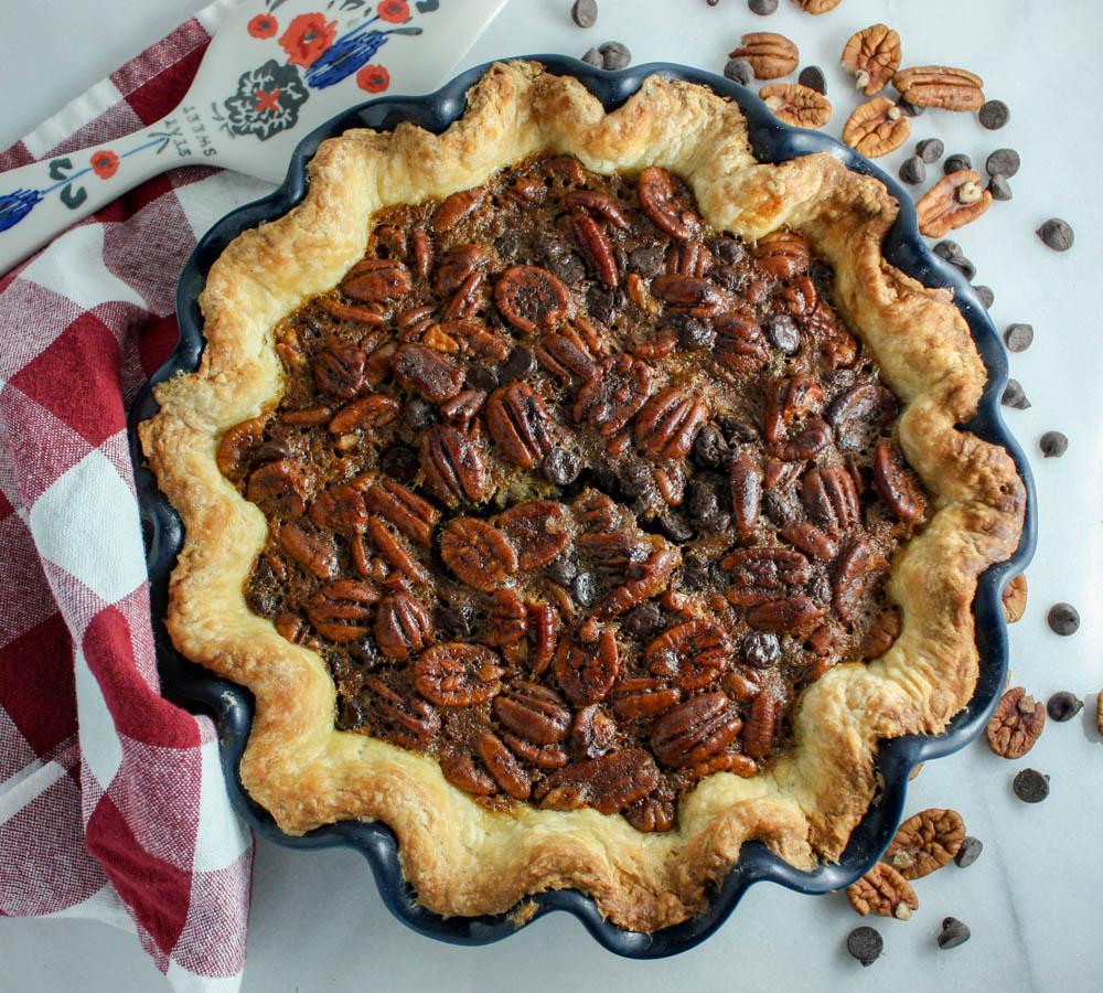 Decadent & Chocolate Filled Pecan Pie