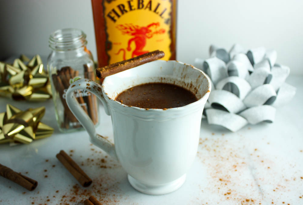 Spicy Cinnamon Crockpot Hot Chocolate