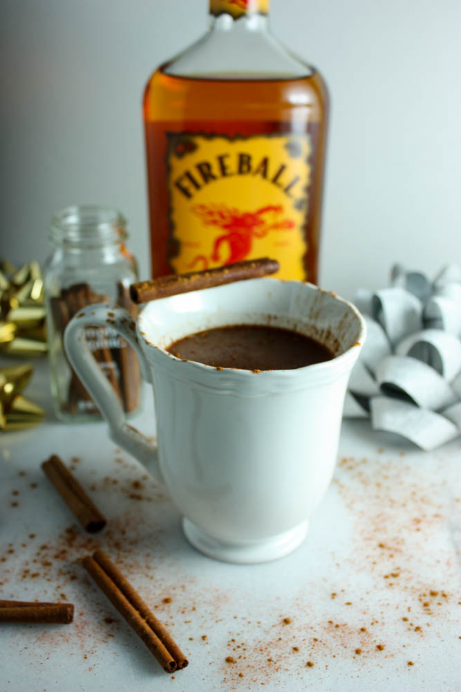 Cinnamon Whiskey Hot Chocolate