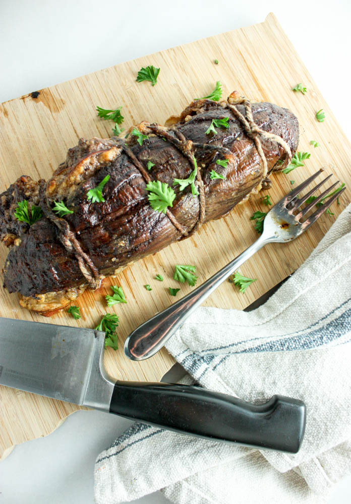 Sweet and Savoury Stuffed Tenderloin