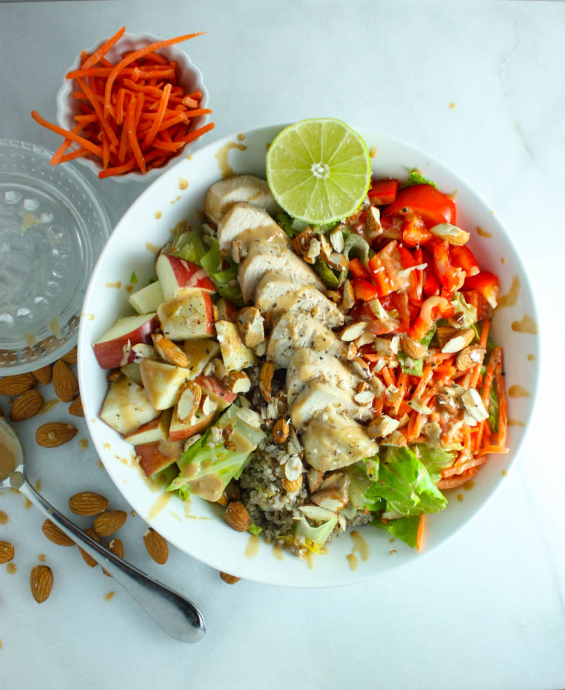 Salad Meal Prep Made Easy with Tahini Veggie Salad