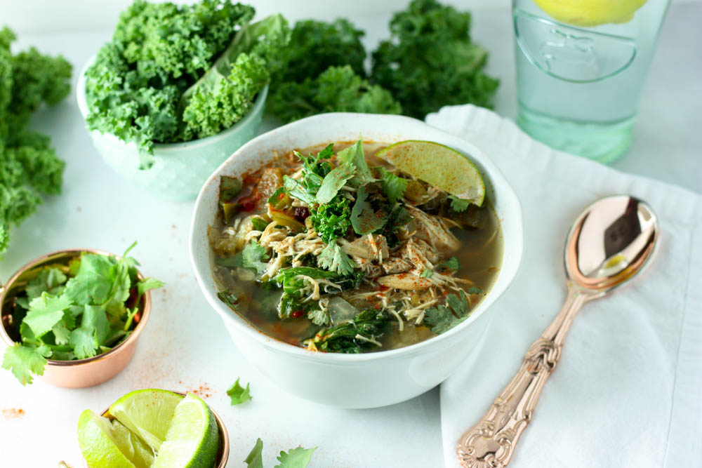 Curly Kale Chicken Chili - Whole30
