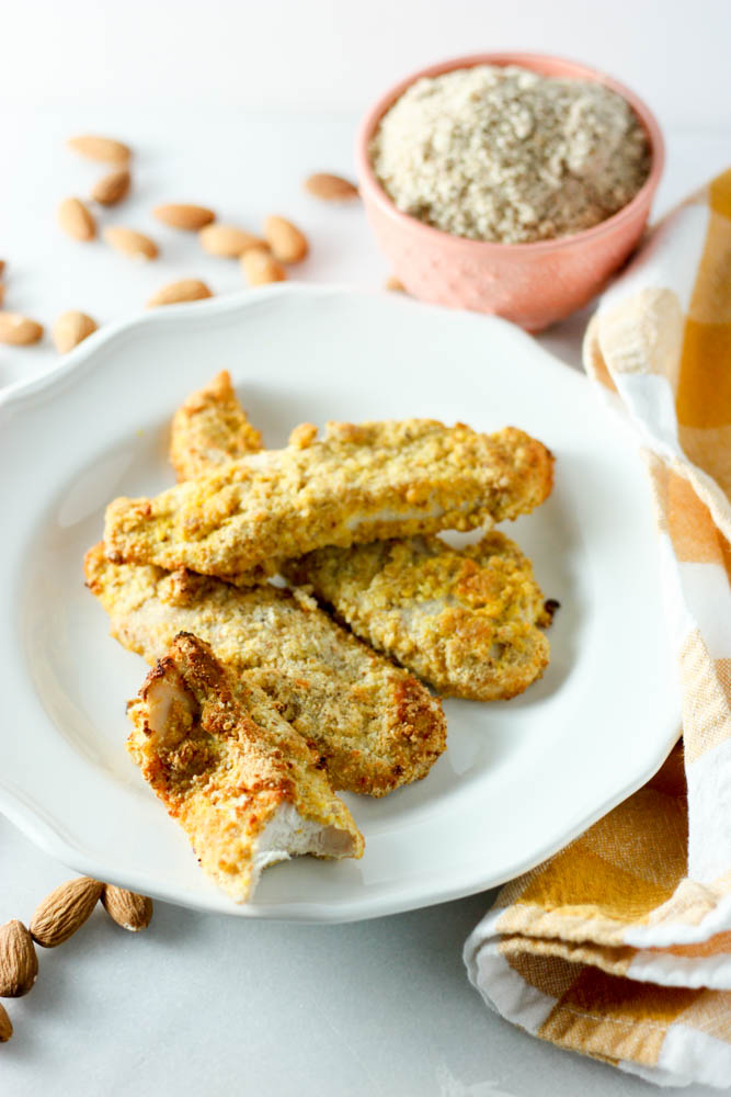 Spicy Almond Chicken Fingers Miss Allie S Kitchen