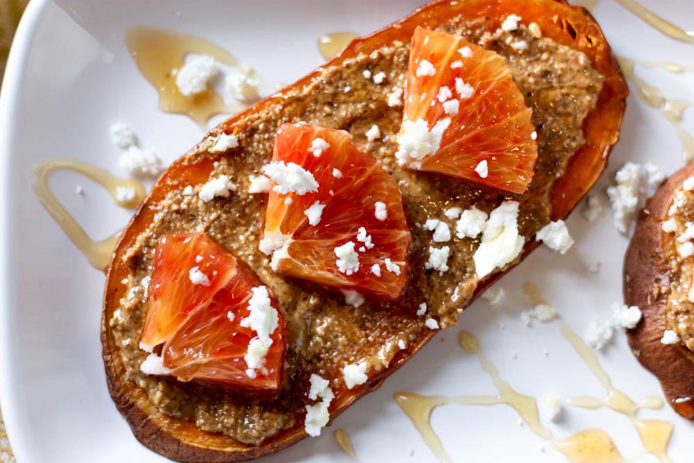 Blood Orange & Goat Cheese Sweet Potato Toast