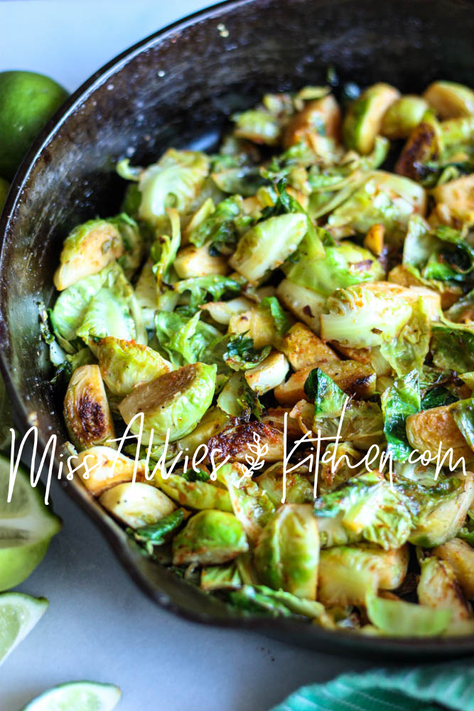 Paleo Sweet & Spicy Brussels Sprouts