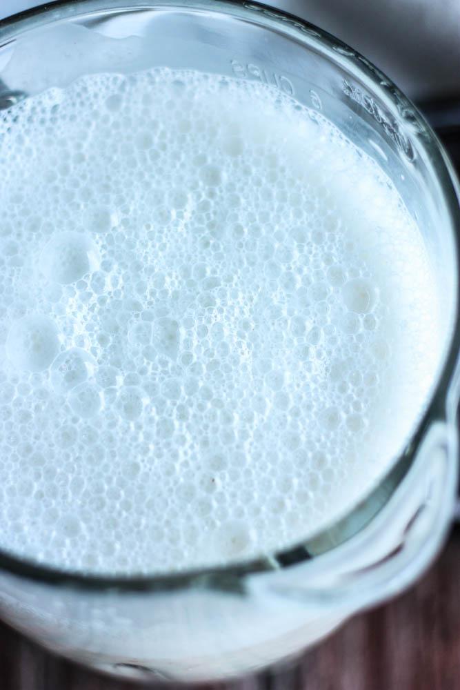 Frothy Almond Milk