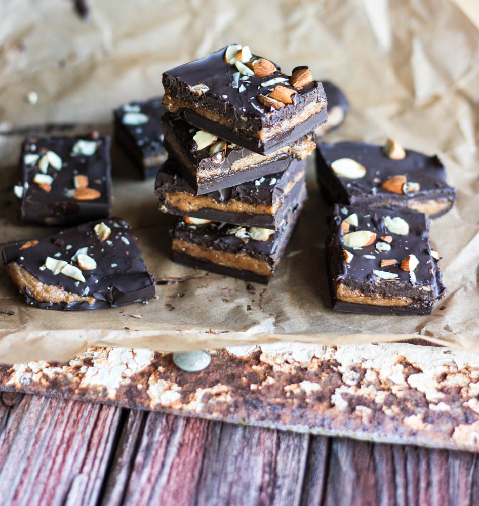Chocolate Bars stuffed with Almond Butter