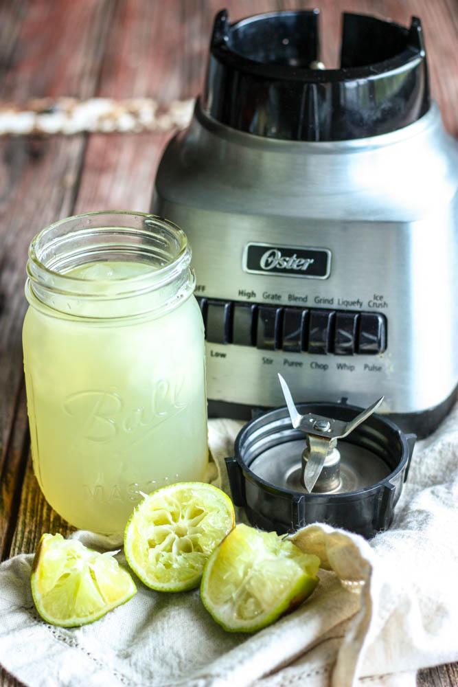 Making a Mason Jar Margarita