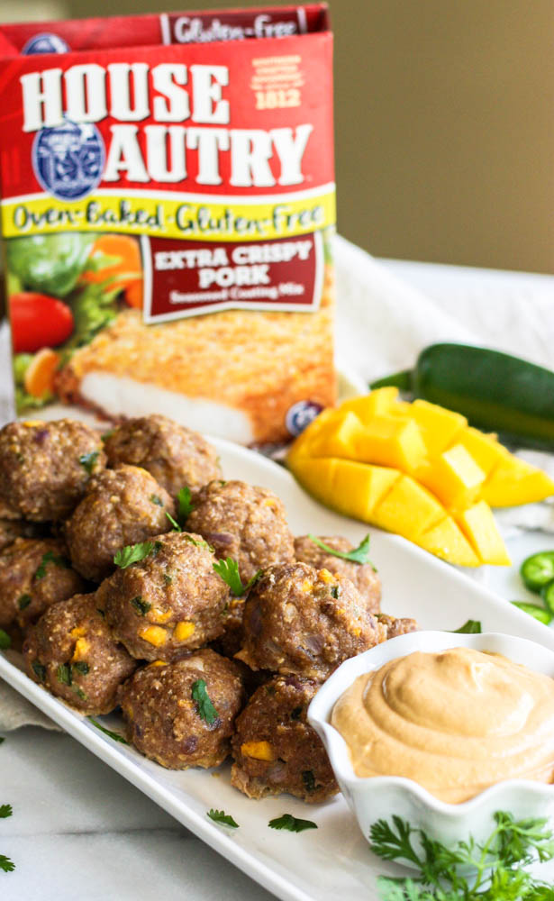 Mango Meatballs with Cashew Dipping Sauce - Gluten Free!