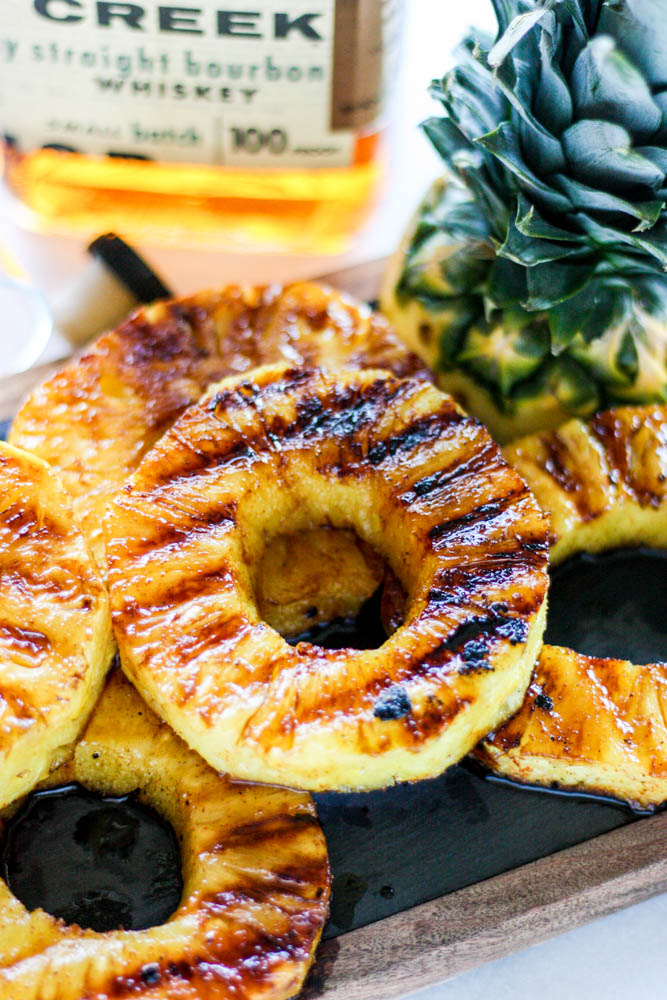 Maple Bourbon Grilled Pineapple