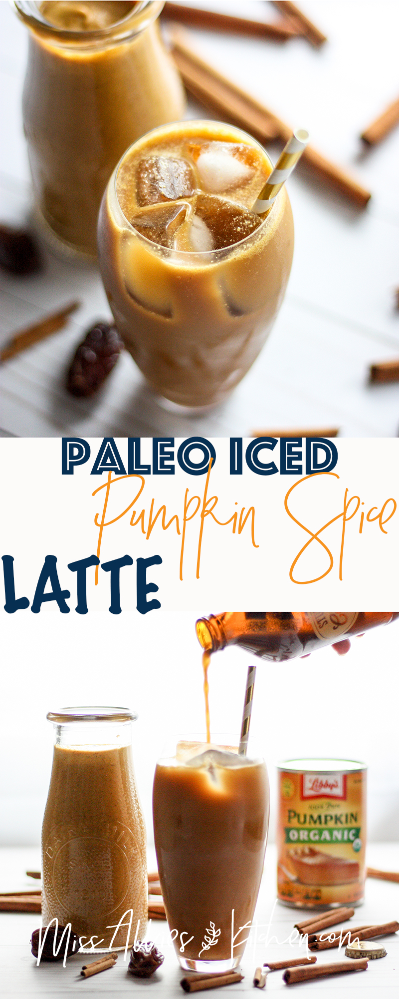 Paleo Iced Pumpkin Spice Latte - get that fall fix without the fancy coffee shop price tag & added crap!