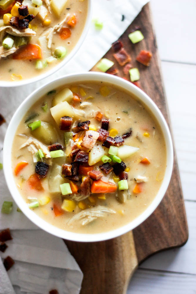 Dairy-Free Healthy Creamy Chicken Corn Chowder