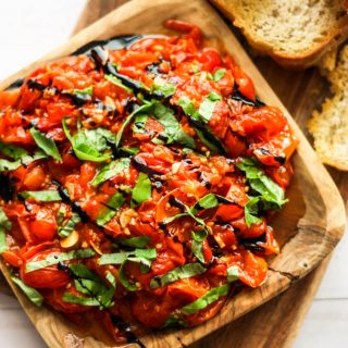 Best Bruschetta with Roasted Tomatoes and Garlic