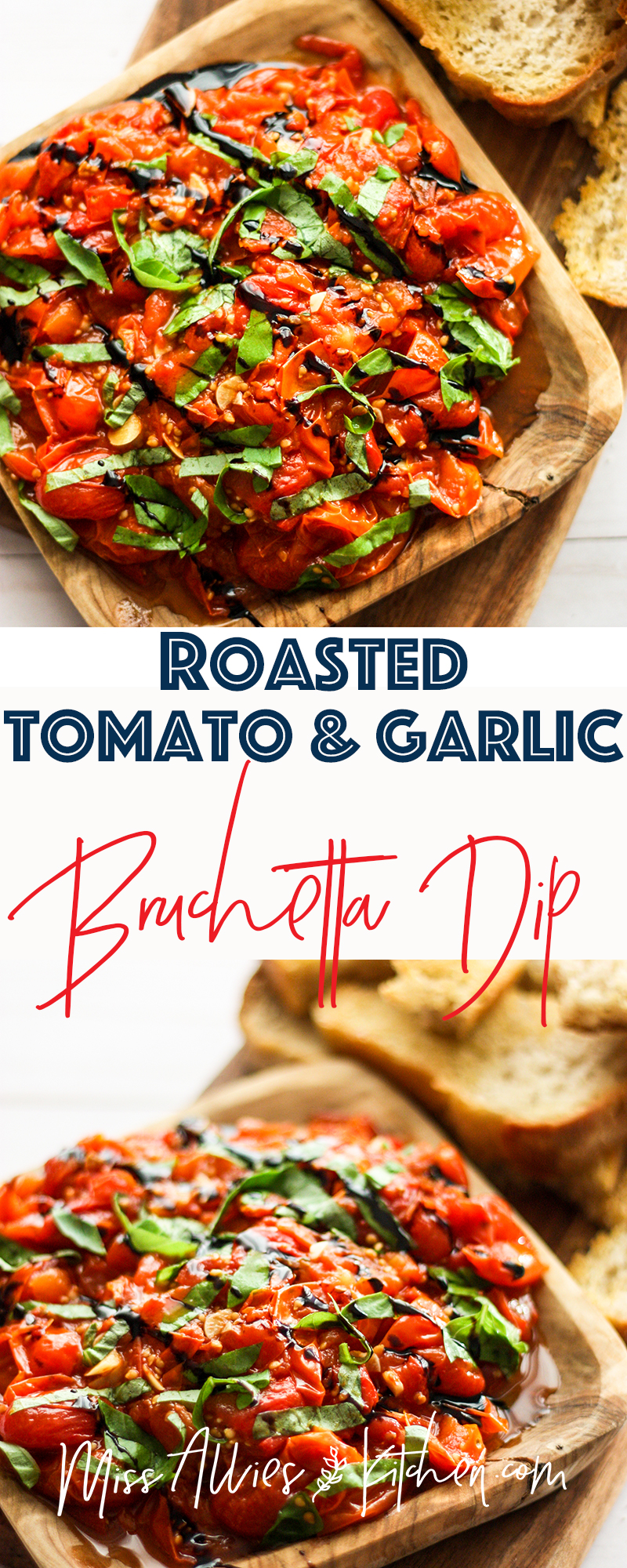 Roasted Tomato & Garlic Bruschetta Dip