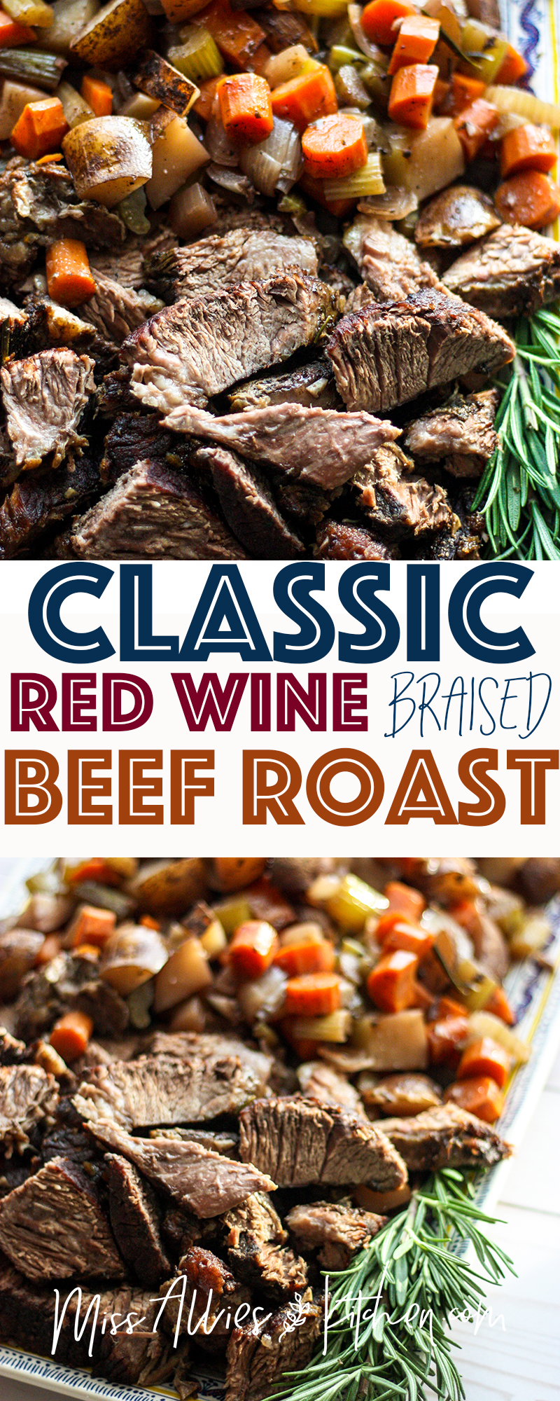 Classic Red Wine Braised Beef Roast - the perfect recipe to have on hand!