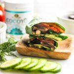 Vegan Mushroom Gyros with Dairy Free Tzatziki