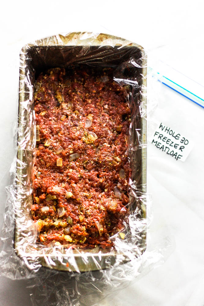 Whole30 Freezer Meatloaf