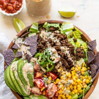 Healthy Elk Taco Salad