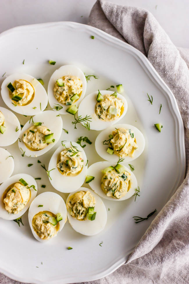 Cucumber Dill Deviled Eggs