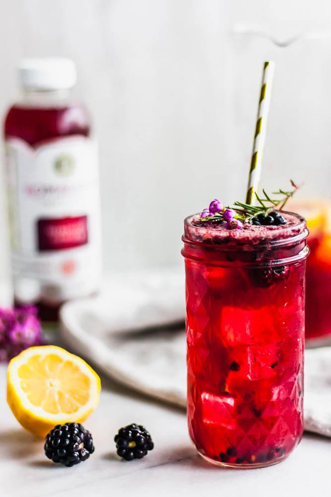 Blackberry Hibiscus Vodka Lemonade