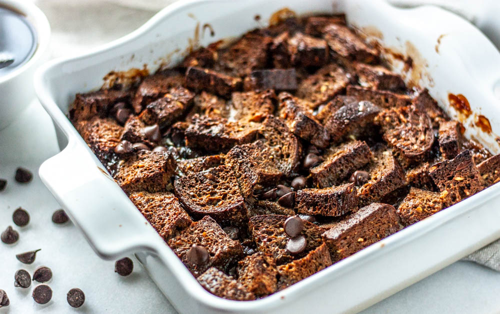 Dairy Free Mocha French Toast Bake
