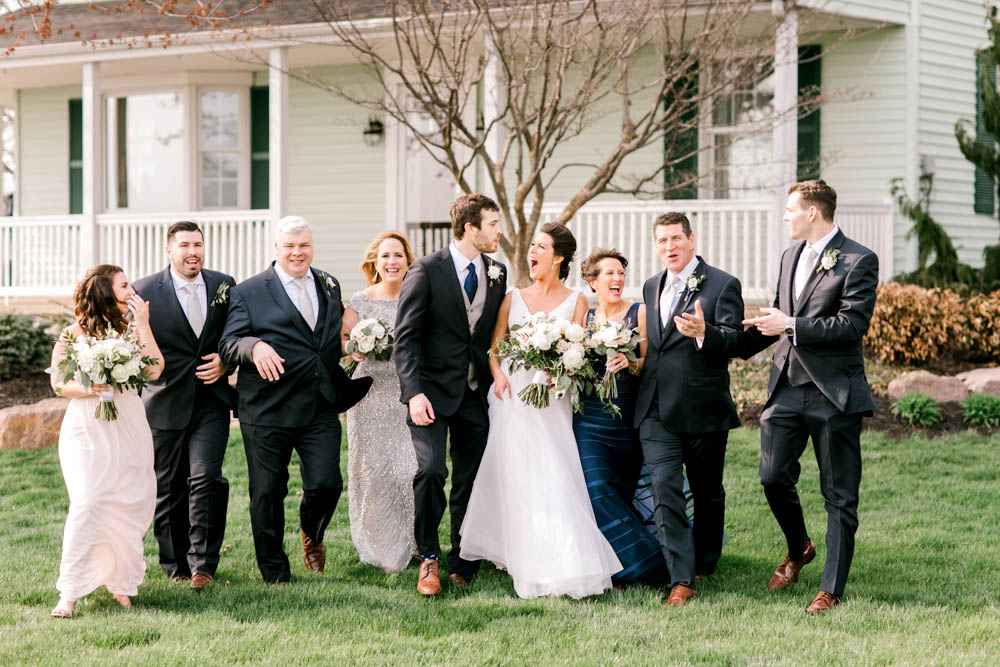 whimsical wedding family photo