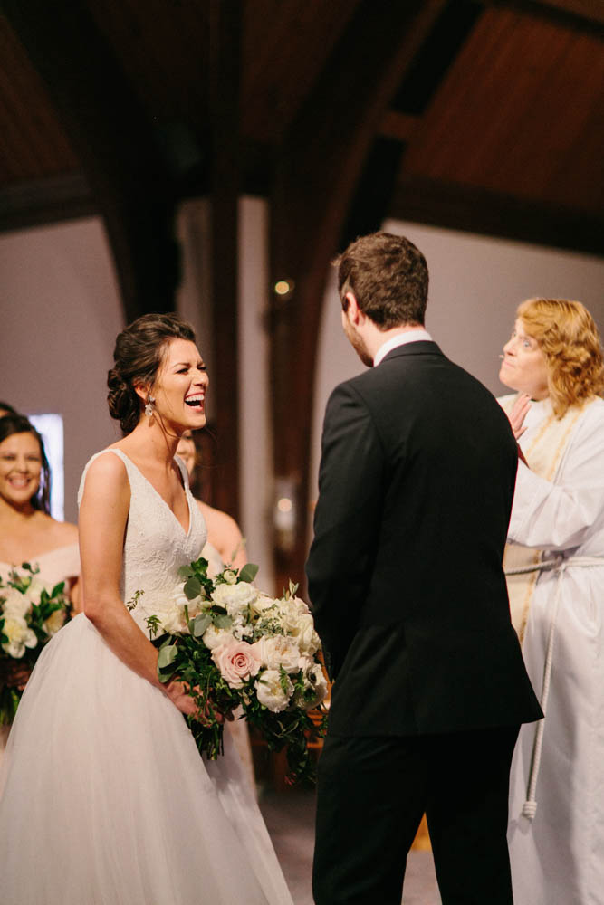 It's OK to laugh at the altar