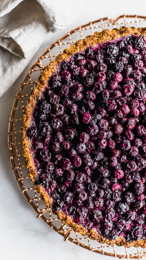 Simple Paleo Blueberry Tart