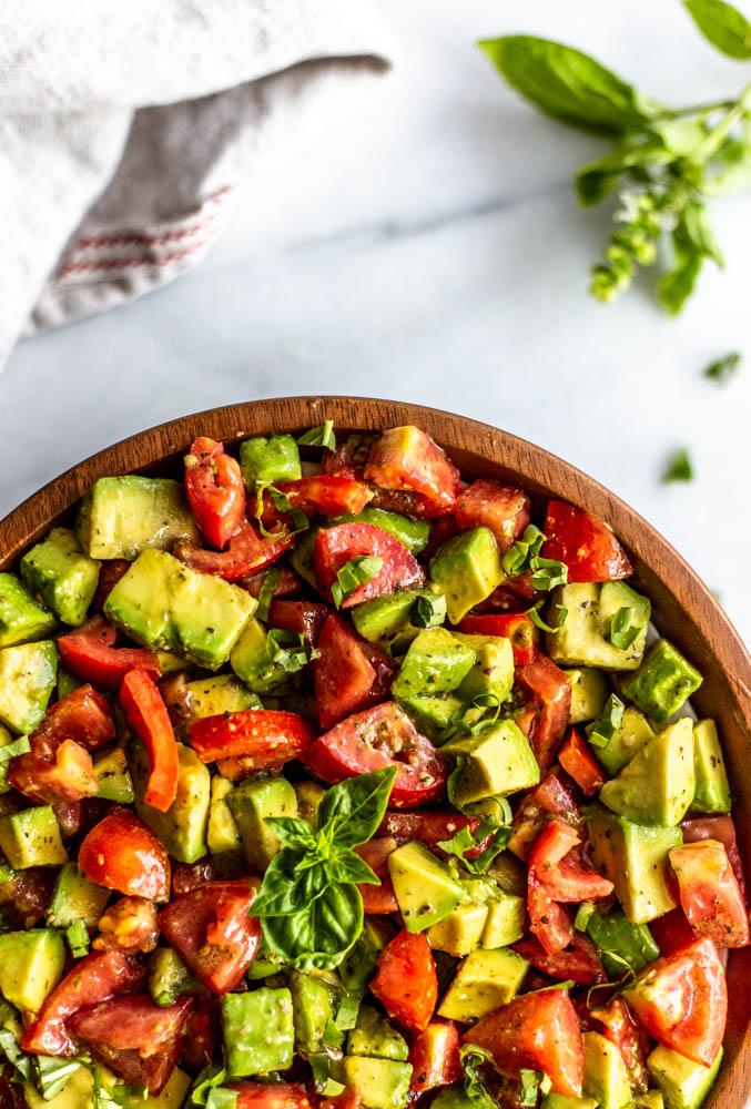 Italian Style Avocado and Tomato Salad