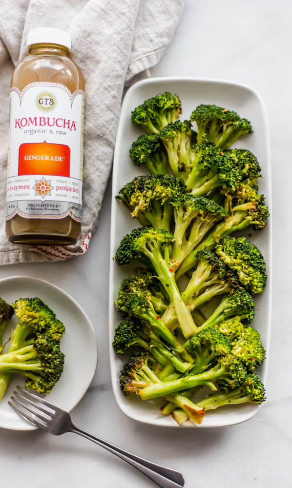 Whole30 Stovetop Spicy Ginger Broccoli- If you need a flavorful side dish all you have to do is saute this Stovetop Spicy Ginger Broccoli on the stove in the delicious, chili ginger sauce. The perfect gluten-free sauce where you can use soy sauce or coconut aminos. This recipe is whole30 compliant and so flavorful! #whole30 #sidedish #paleo #healthy #healthyrecipe #easy #homemade #veggie #broccoli