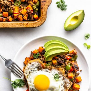 Whole30 Bison Sweet Potato Hash
