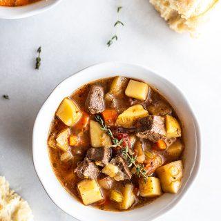 Easy Instant Pot Venison Stew (slow cooker friendly)