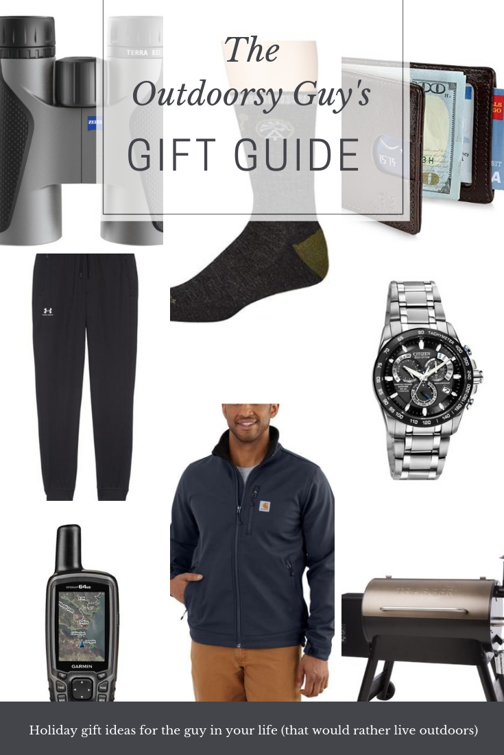 The ultimate gift guide for the outdoorsy guy who would rather spend all of his time outside or in the gym. These things are all built to last.