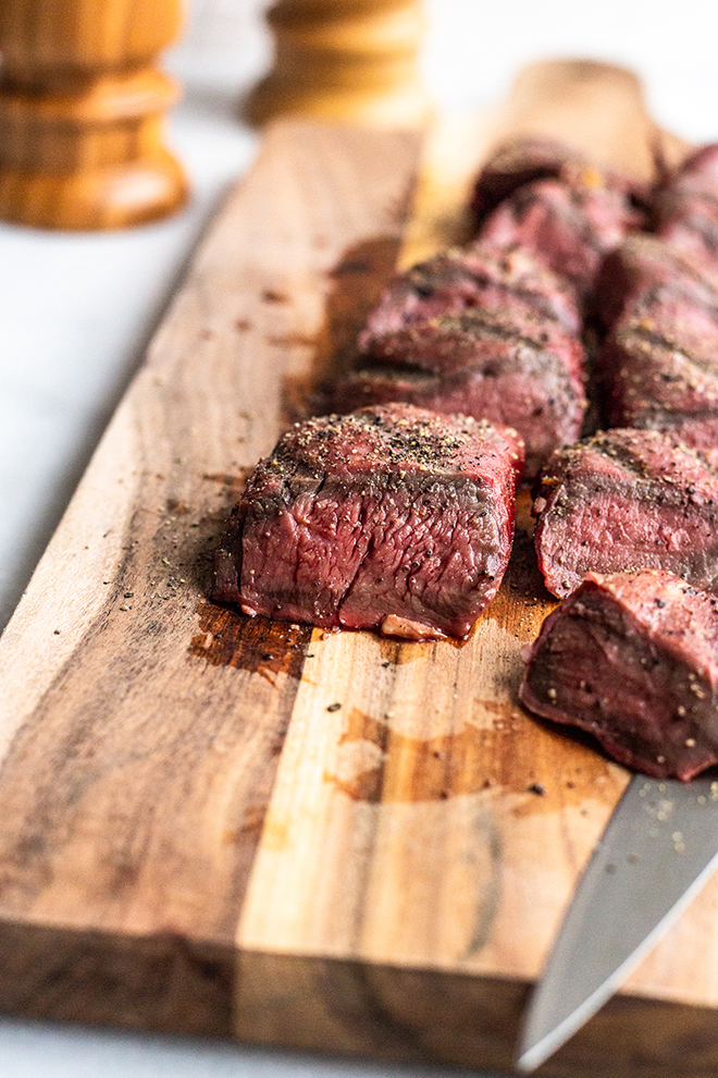 This Smoked Venison Tenderloin is marinated in a fresh, citrus marinade before spending time in the smoker. It's tender, flavorful, smokey and juicy and totally easy to do.