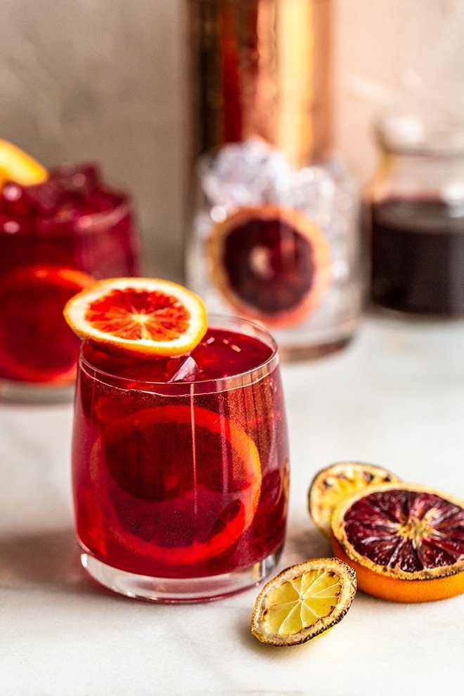All natural color from easy to make Charred Citrus and Beet juice makes these Vodka Tonics extra special and crazy delicious.