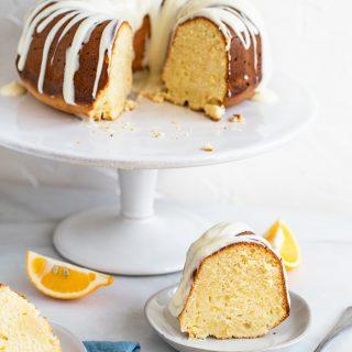 Meyer Lemon Pound Cake with Cream Cheese Glaze