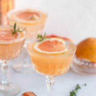 Grapefruit Thyme Rosemary Fizz Cocktail