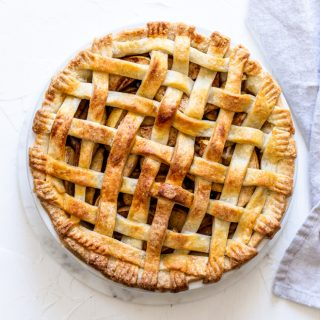 Classic Lattice-Top Apple Pie [step by step recipe tutorial]