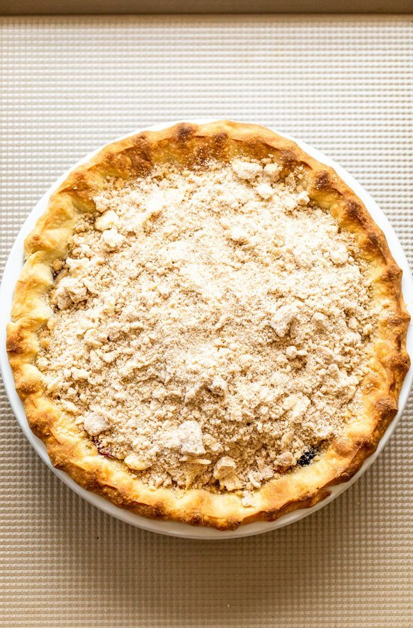 crumble topped pie