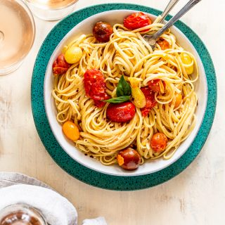 Summer Pasta with Rosé & Tomatoes