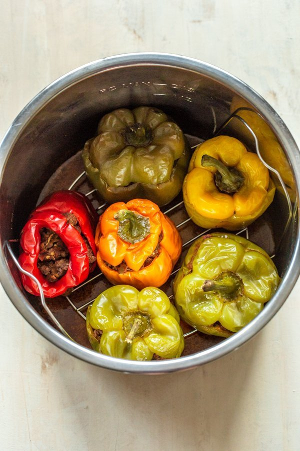 stuffed peppers in an instant pot pot