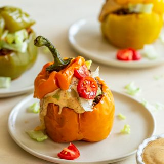 Taco Style Instant Pot Stuffed Peppers with Venison