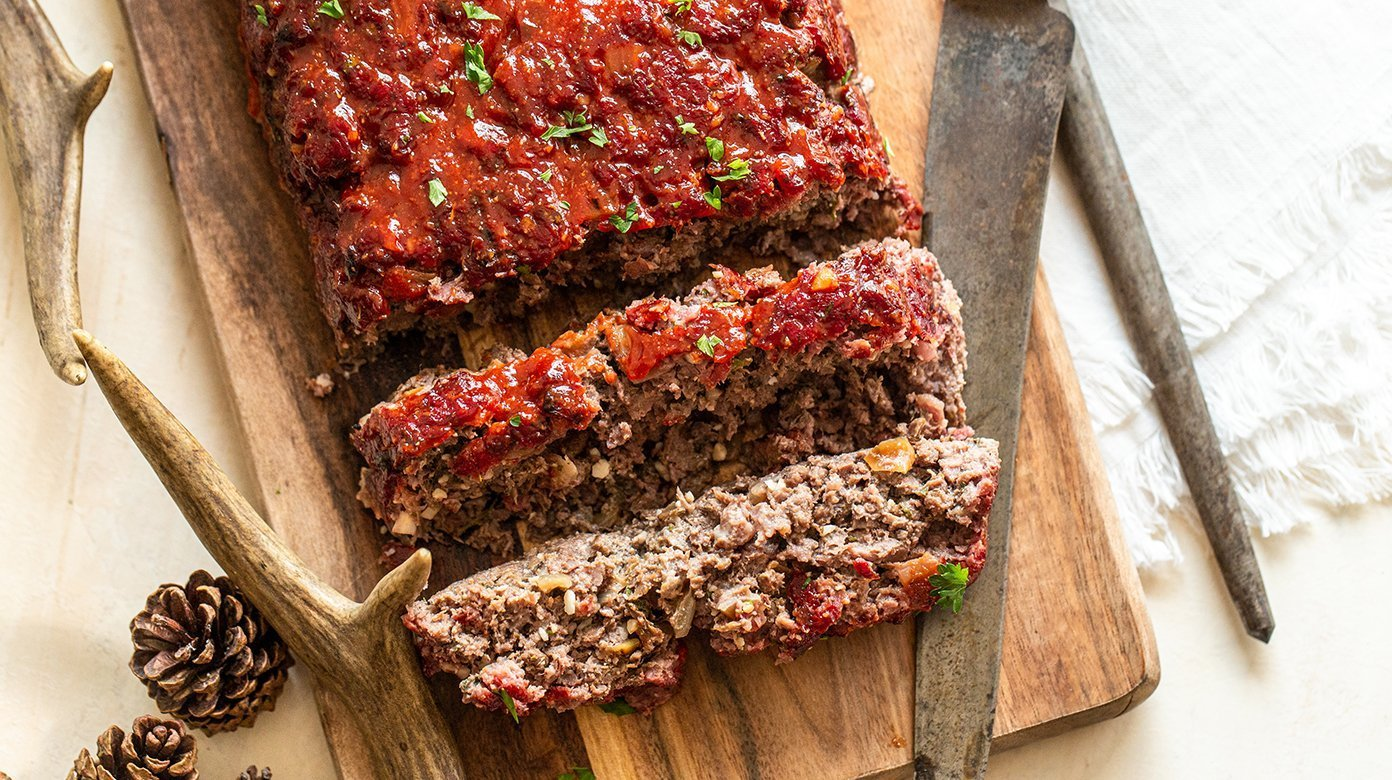 Smokey Venison Meatloaf Oven Smoker Friendly