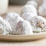 cookies dusted with powdered sugar