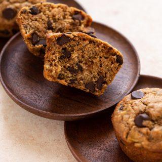 Healthy Sourdough Banana Bread Muffins